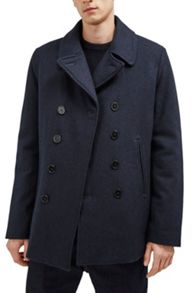 French Connection Marine Melton Peacoat