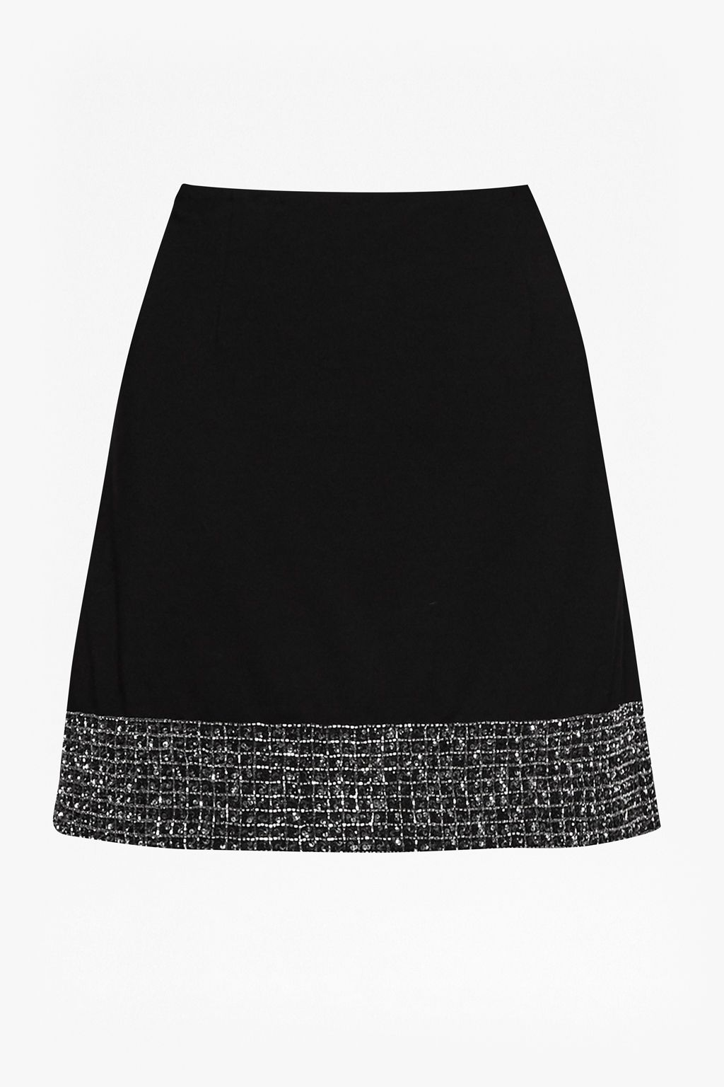 French Connection Crystal Shot Mini Skirt, Black