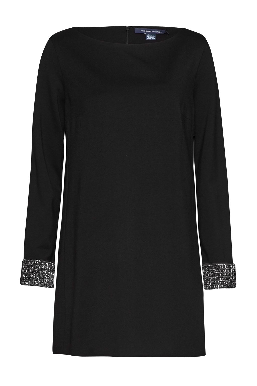 French Connection Crystal Shot Tunic Dress, Black