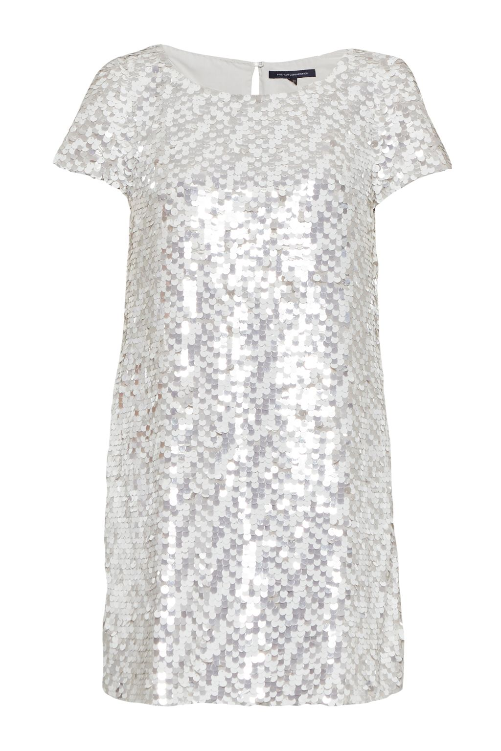 French Connection Snow Sequins Tunic Dress, Grey