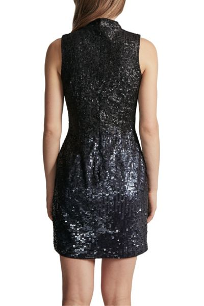 French Connection Starlight Sparkle High Neck Sequin Dress