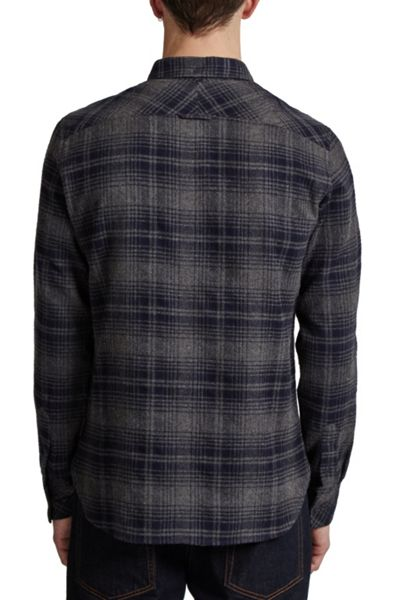 French Connection Falco Flannel Button Down Shirt