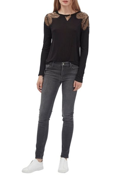French Connection Juliette Lace Long Sleeve Top