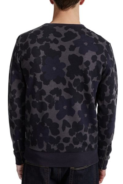French Connection Big Bucky Floral Printed Sweatshirt