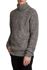 French Connection Buddy Knit Melange Roll Neck Jumper