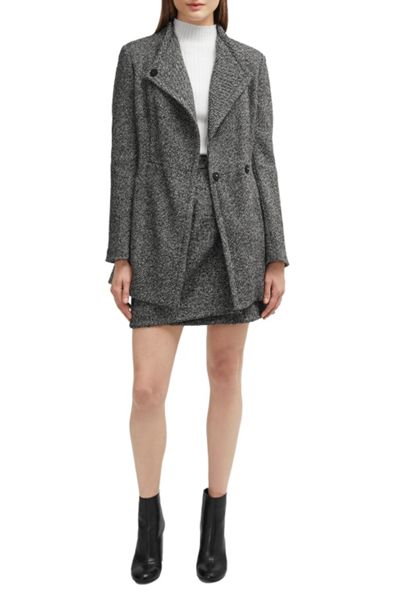 French Connection Rupert Tweed Tie Waist Jacket