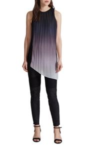 Great Plains Fade Out Jersey Asymmetric Top