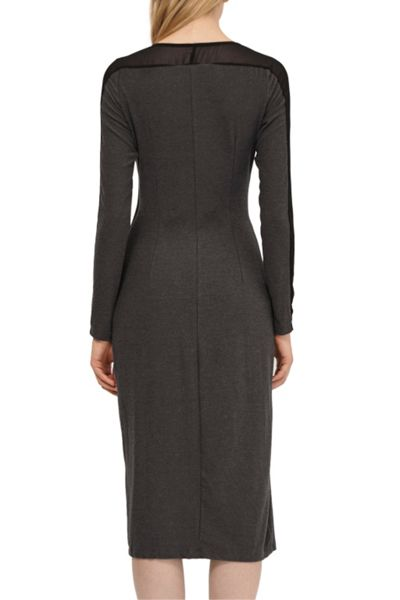French Connection Wool Drape Jersey Dress