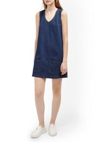 French Connection Penny Denim Pinafore Dress