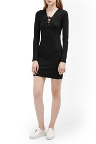 French Connection Lula Lace Up Dress