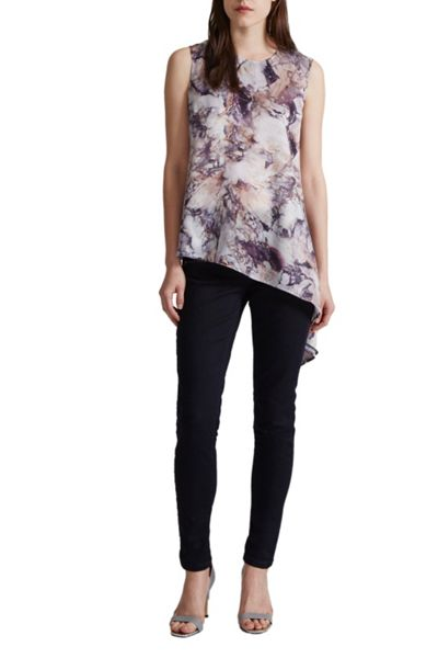 Great Plains Verona Marble Asymmetric Printed Top