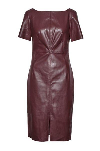 Great Plains Chicago Top Stitch Faux Leather Dress