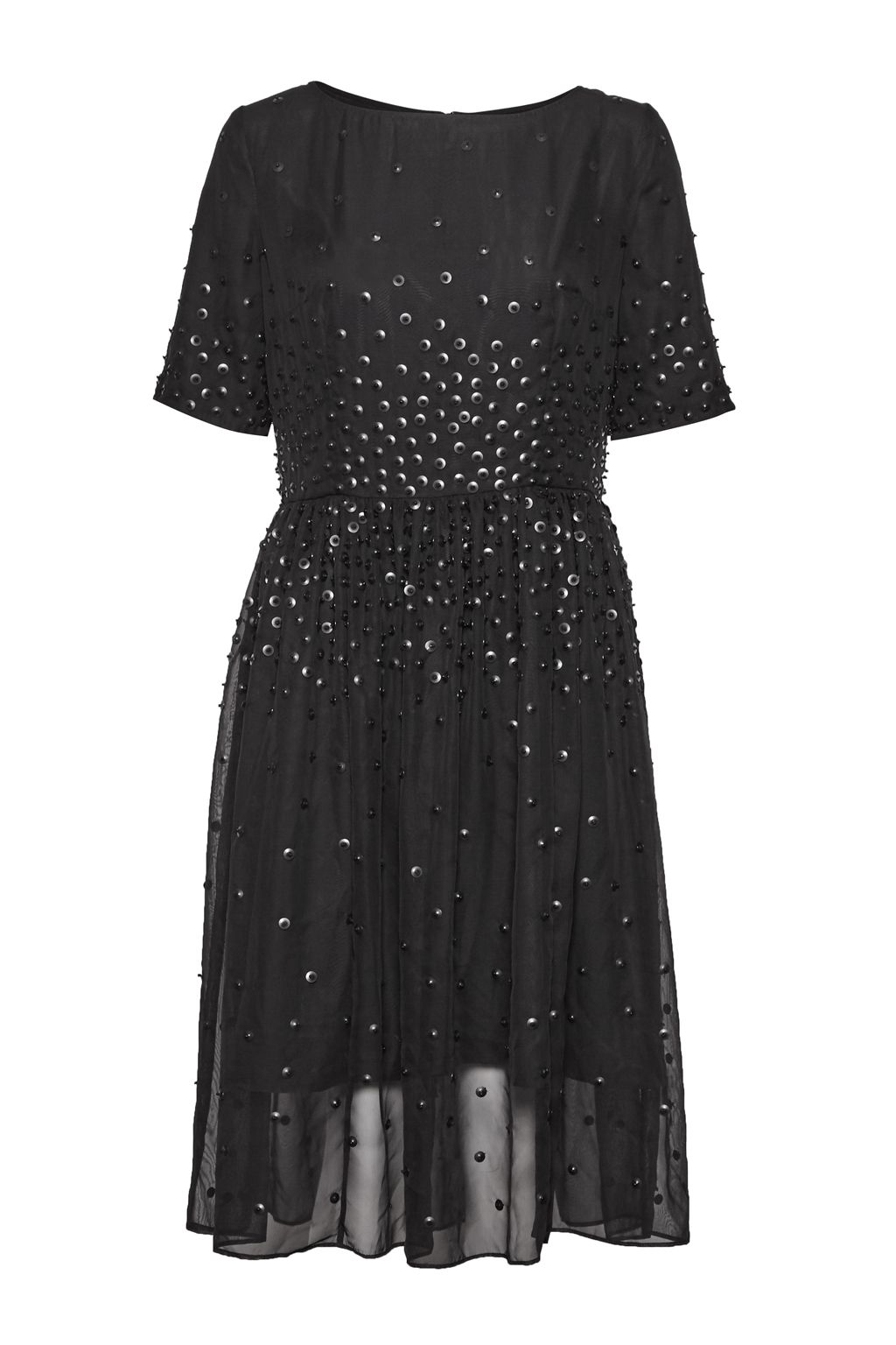 Great Plains Dolly Sequins Embellished Dress, Black