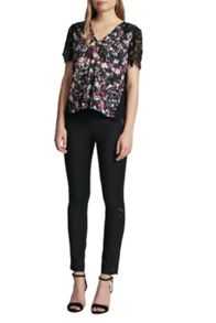 French Connection Midnight Bloom Plains Lace Top