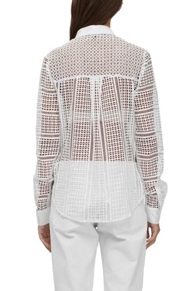 French Connection Summer Cage Laser Cut Shirt