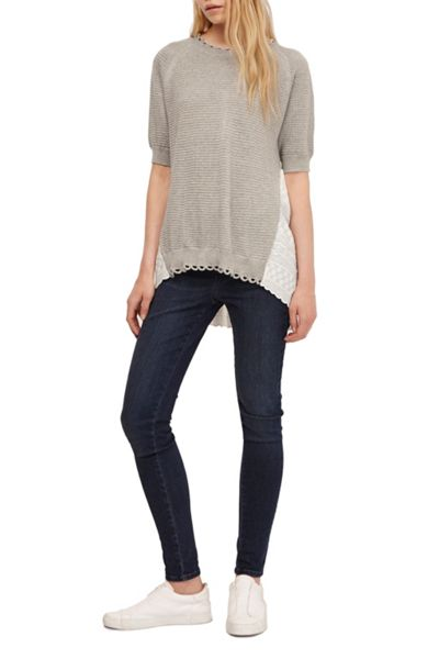 French Connection Celia Scallop Crochet Jumper