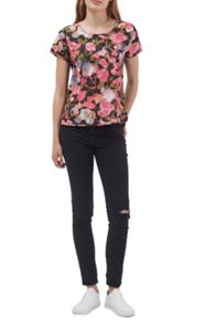 French Connection Adeline Dream Floral Pocket Top