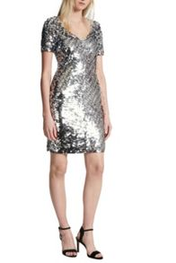 French Connection Snow Sequins Bodycon Dress