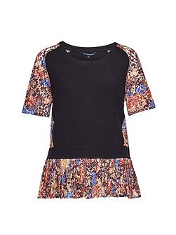 Flora Jersey Jersey Lace Top