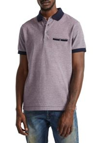 French Connection Oxford Pique Geo Polo Shirt