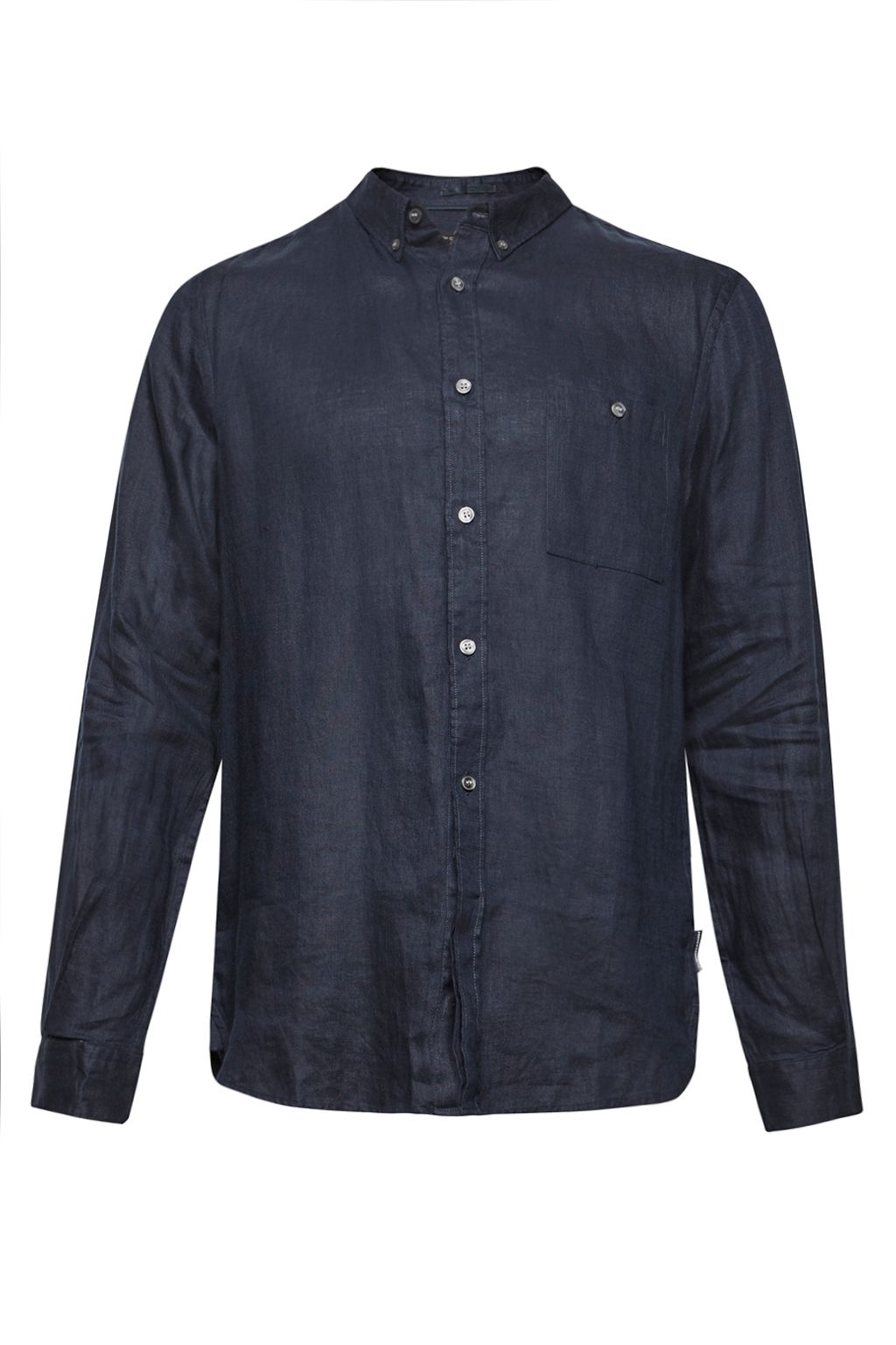 Mens French Connection Summer Linen Shirt Navy