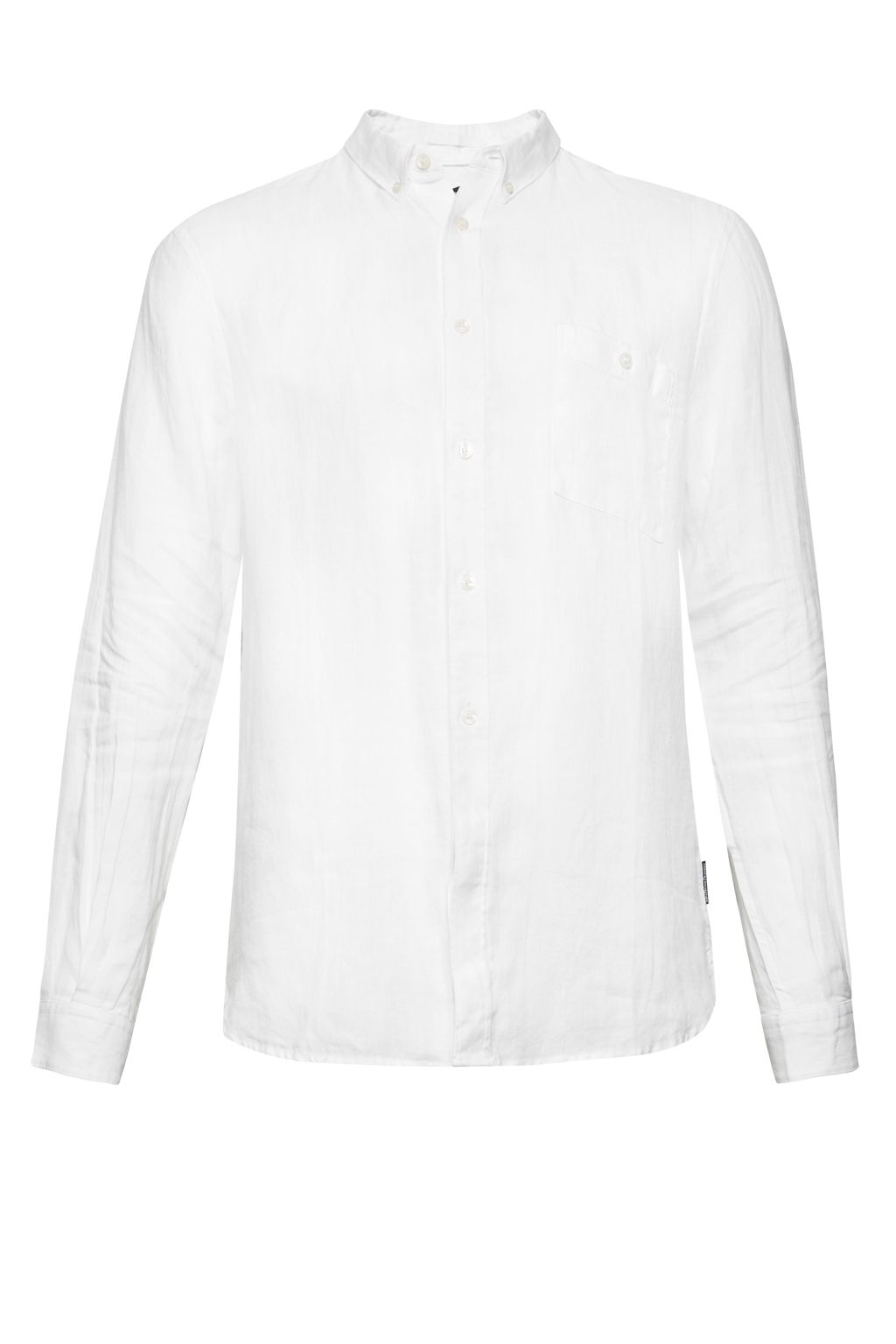 Mens French Connection Summer Linen Shirt White