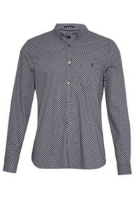 French Connection Stretch Paisley Slim Paisley Shirt