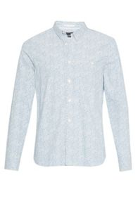 French Connection Oxford Peach Floral Print Shirt