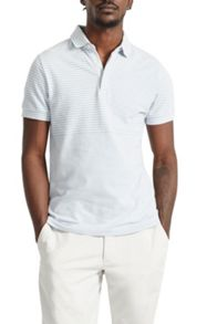 French Connection Menon Block Stripe Polo Shirt