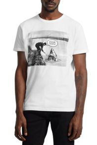 French Connection Catch of the Day Graphic Print T-Shirt