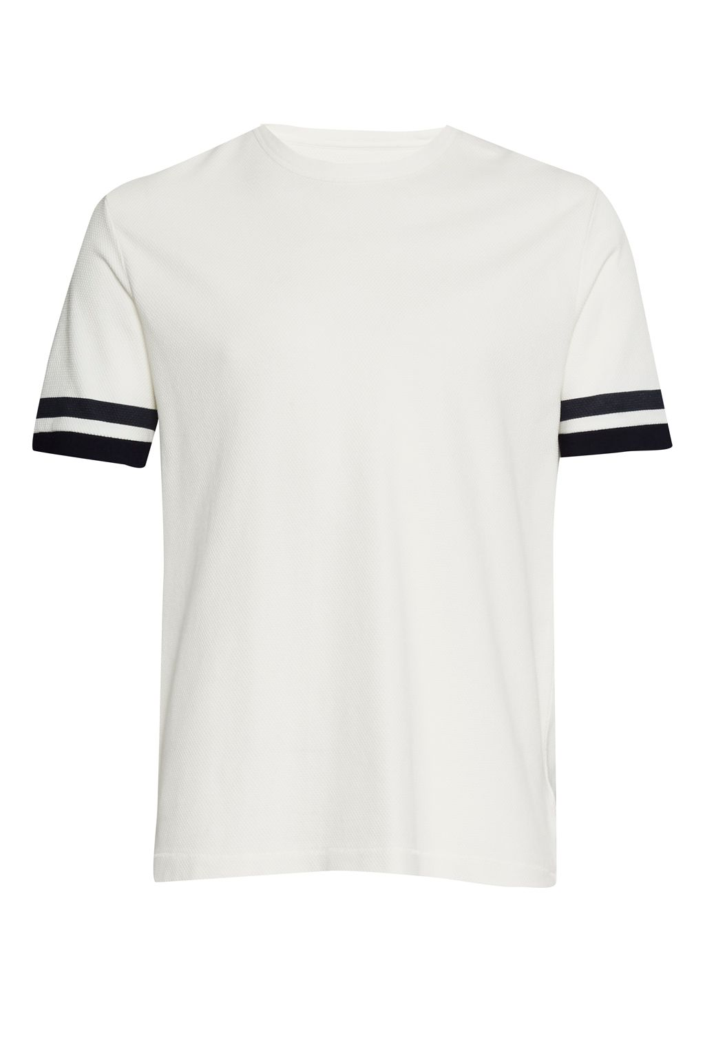 Men's French Connection Ampthill Pique Sleeve Tipping T-Shirt, Cream
