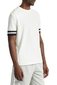 French Connection Ampthill Pique Sleeve Tipping T-Shirt