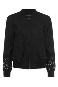 French Connection Francisco Jacquard Lace Bomber Jacket