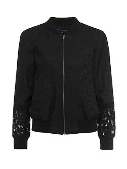 Francisco Jacquard Lace Bomber Jacket