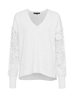 Manzoni Lace Sleeves Jumper