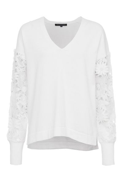 French Connection Manzoni Lace Sleeves Jumper