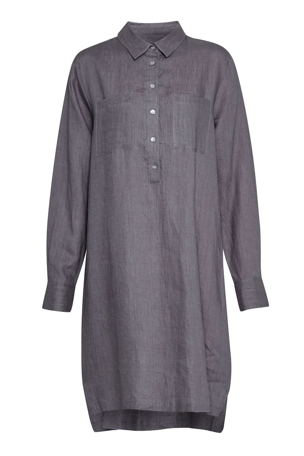 Great Plains Lara Linen Patch Pocket Tunic, Grey
