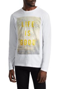 French Connection Life Is Good Long Sleeve Top
