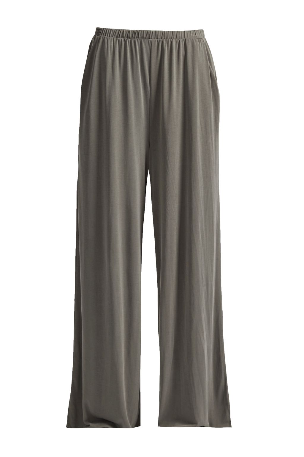 Great Plains So Peachy Wide Leg Jersey Trousers, Green