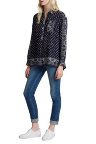 French Connection Altman VoileOversized Pullover Top