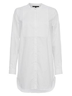 Smithson Cotton Bib Front Longline Shirt