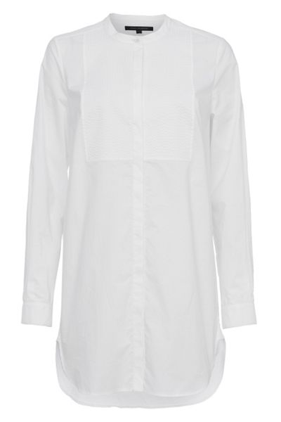 French Connection Smithson Cotton Bib Front Longline Shirt