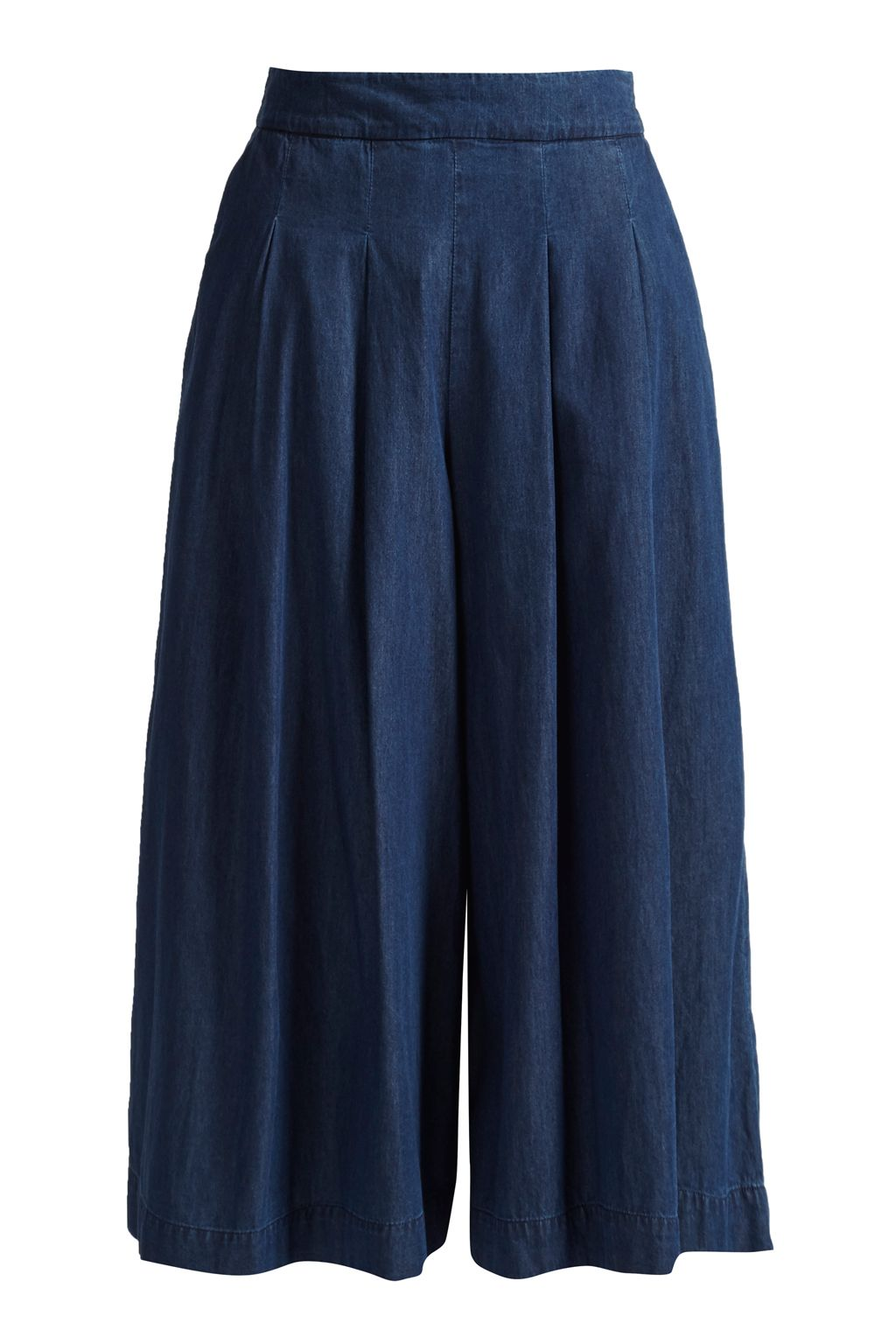 Great Plains Lightweight Denim Flared Culotte, Blue