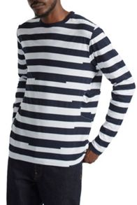 French Connection Ajrakh Block Striped Top