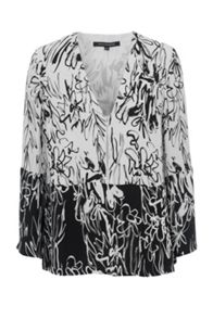 French Connection Copley Printed Crepe Blouse