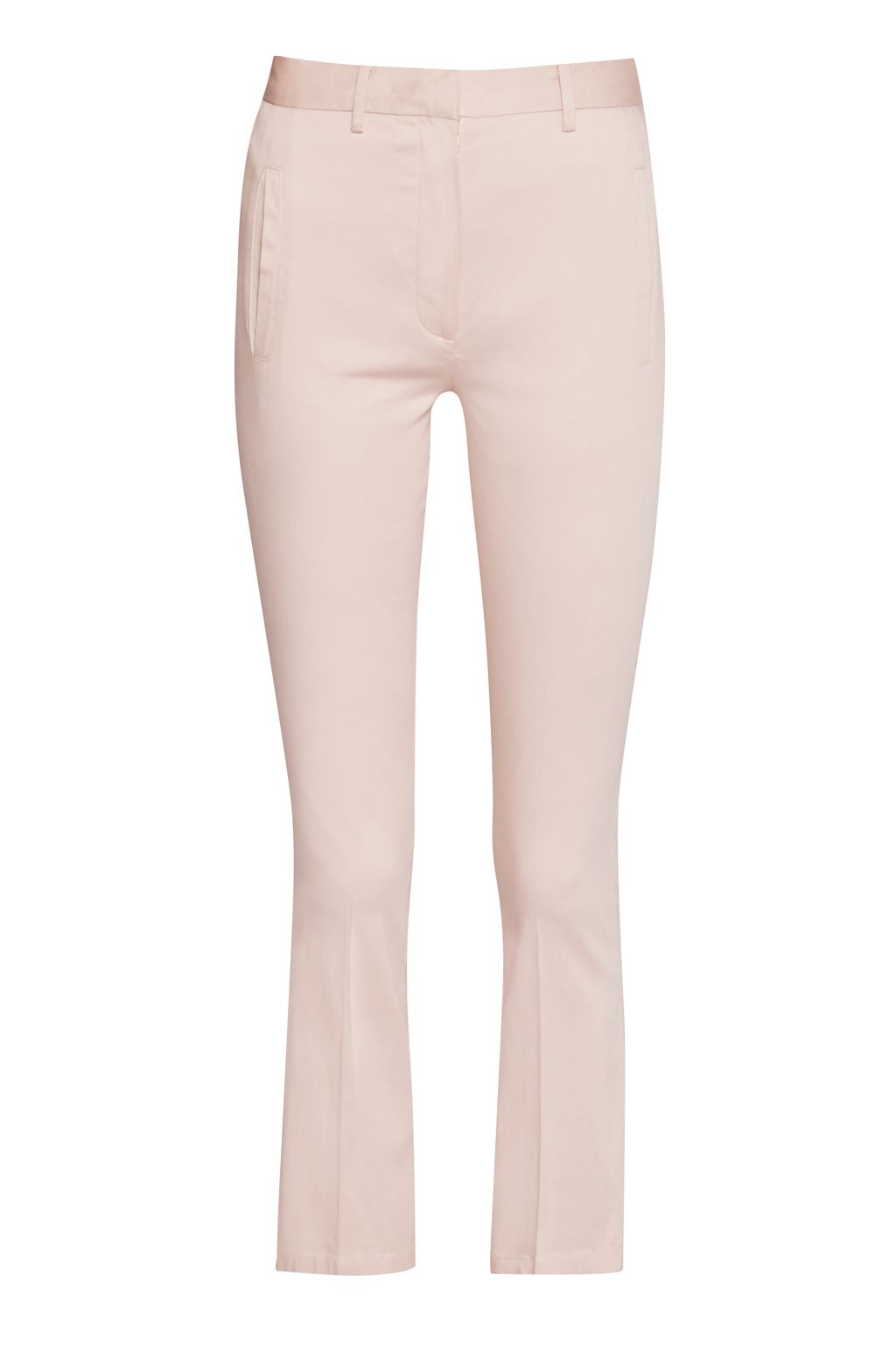 Great Plains Suki Stretch Crop Flared Trousers, Pink