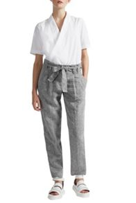 Great Plains Layla Linen Melange Belted Trousers