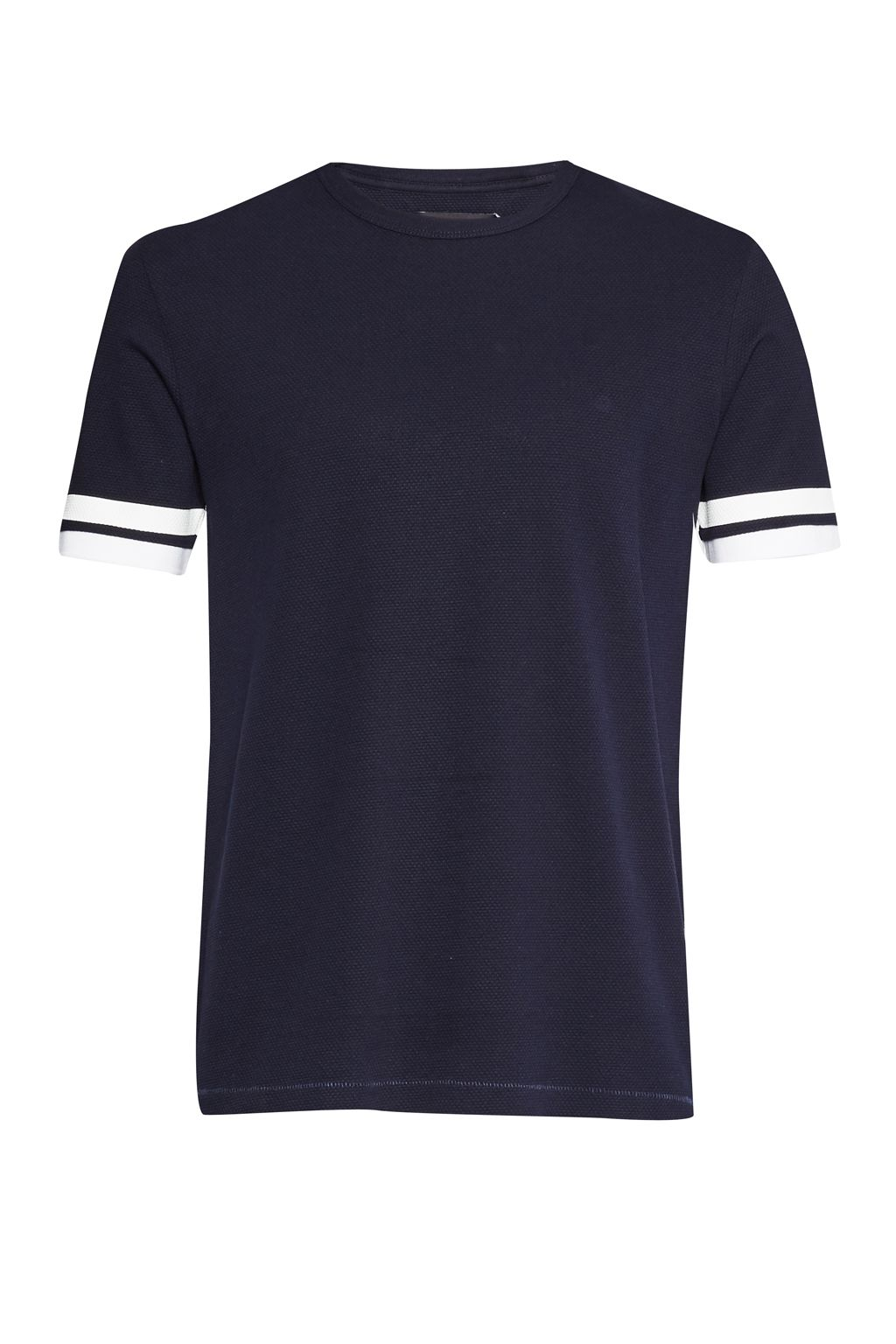 Men's French Connection Ampthill Pique Sleeve Tipping T-Shirt, Blue