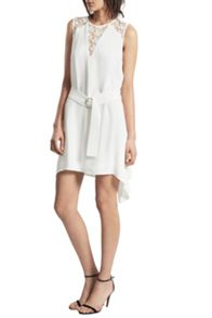 French Connection Hennessy Drape Belted Mini Dress