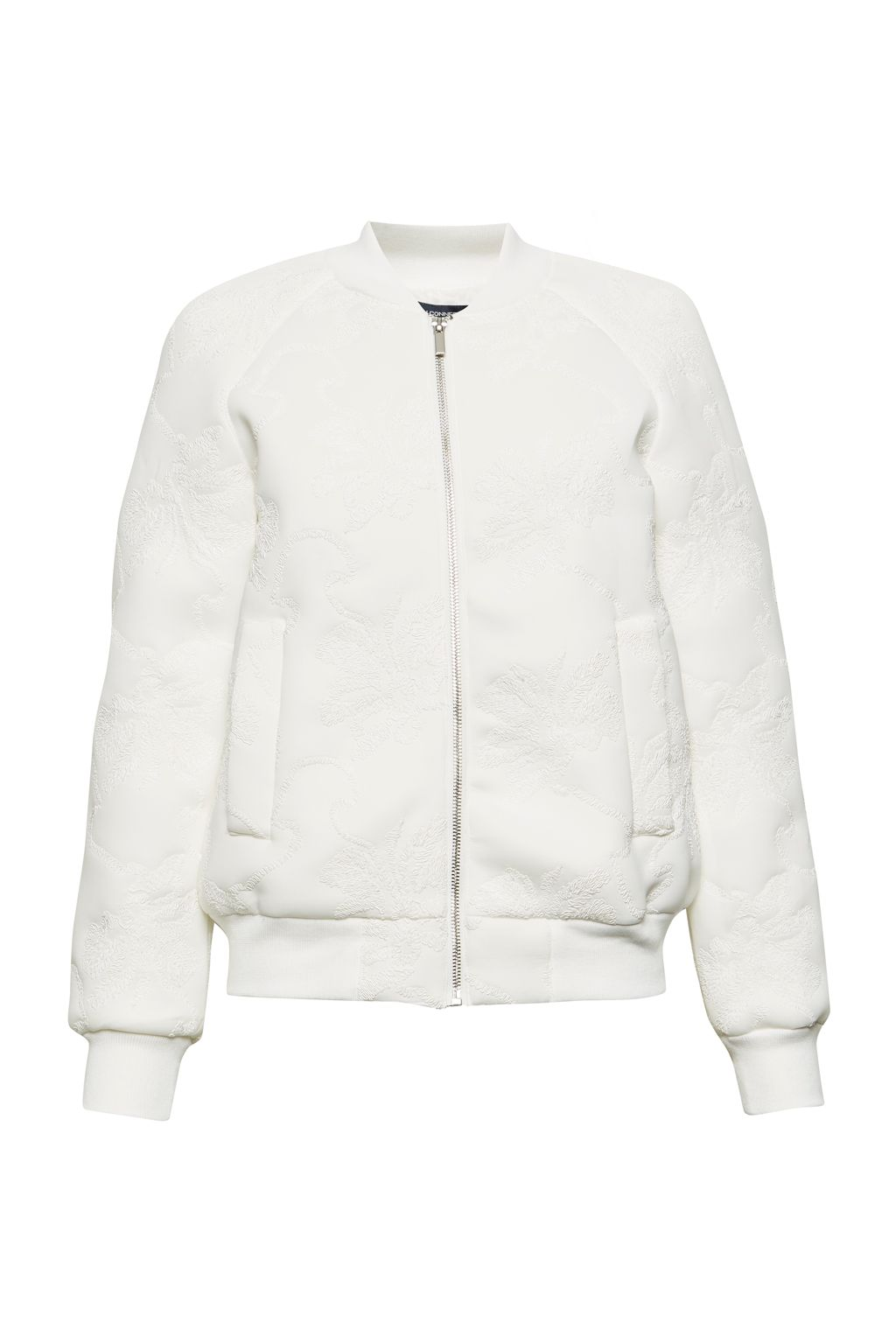 French Connection Hofmann Stitch Bomber Jacket, White